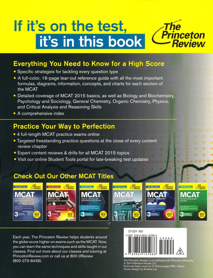 Cracking the mcat with 4 practice tests 2015 2016 edition cracking the mcat with 4 practice tests 2015 2016 edition princeton review 9780804125086 christianbook fandeluxe Image collections