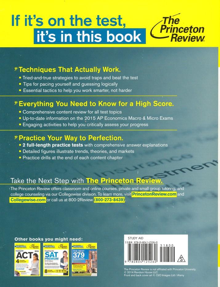 Cracking the AP Economics Macro & Micro Exams, 2015 Edition