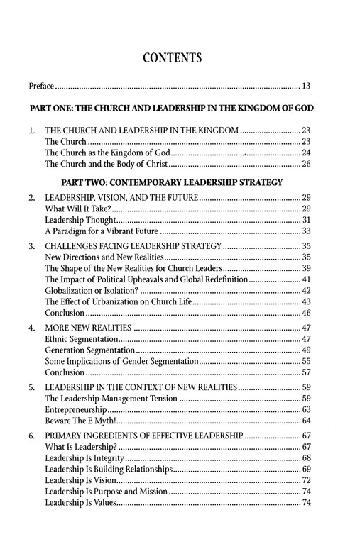 Leadership in the Kingdom: Sensitive Strategies for the Church in a Changing World, Revised Edition
