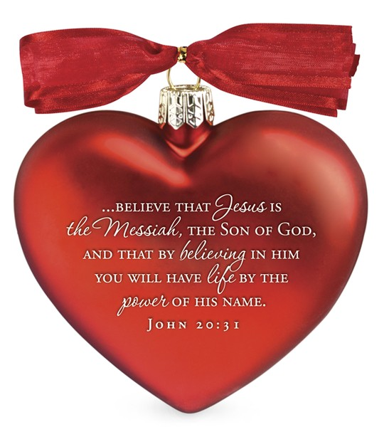 Jesus the Messiah Heart Ornament