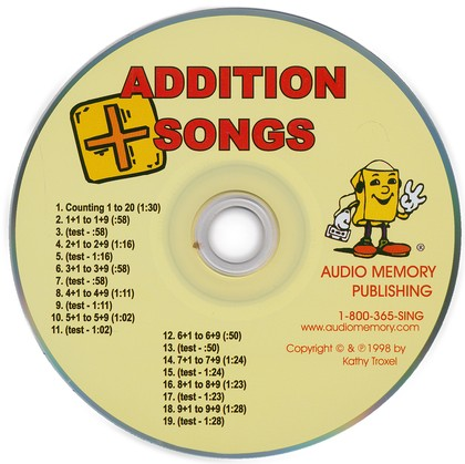 Audio Memory Addition Songs CD Only