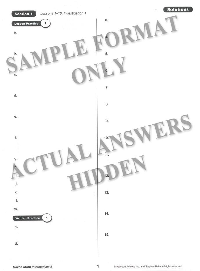 Saxon Math Intermediate 5 Homeschool Kit