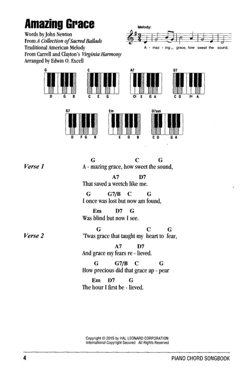 Gospel Hymns Piano Chord Songbook 9781495035821 Christianbook