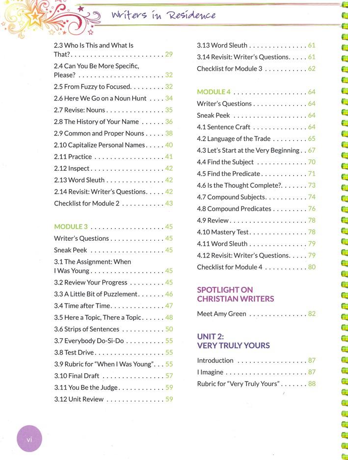 Writers in Residence Volume 1 Apprentice Book