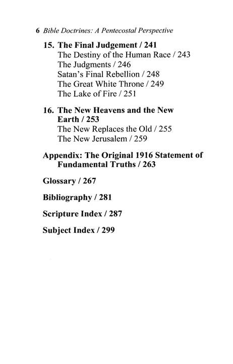 Bible Doctrines: A Pentecostal Perspective