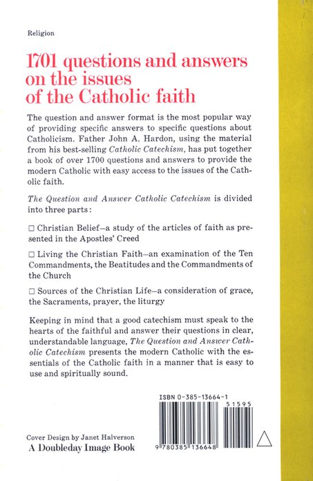 Question and Answer Catholic Catechism