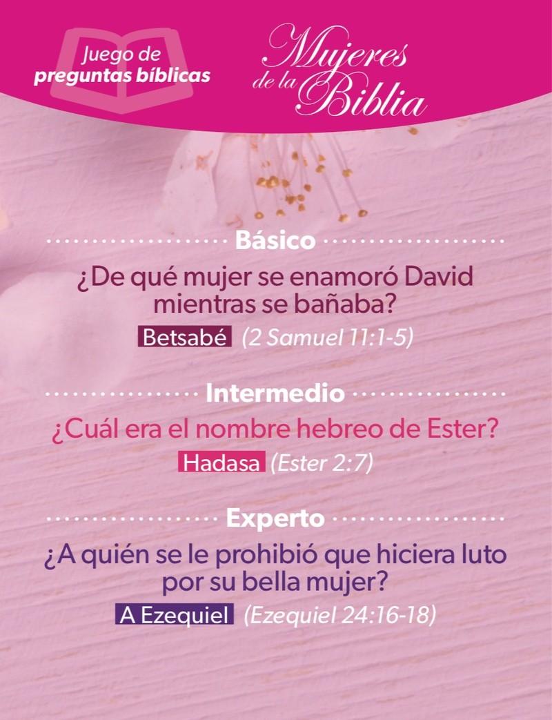 Juego De Preguntas Biblicas Mujeres De La Biblia Women Of The Bible Christianbook Com