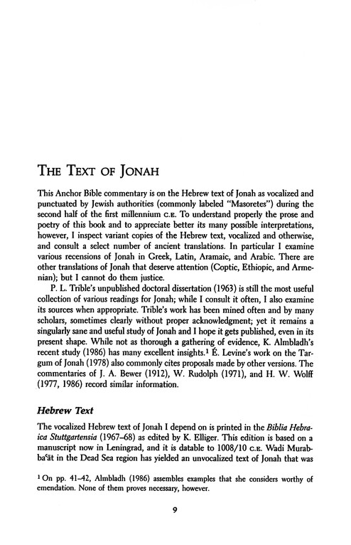 Jonah: Anchor Yale Bible Commentary [AYBC]