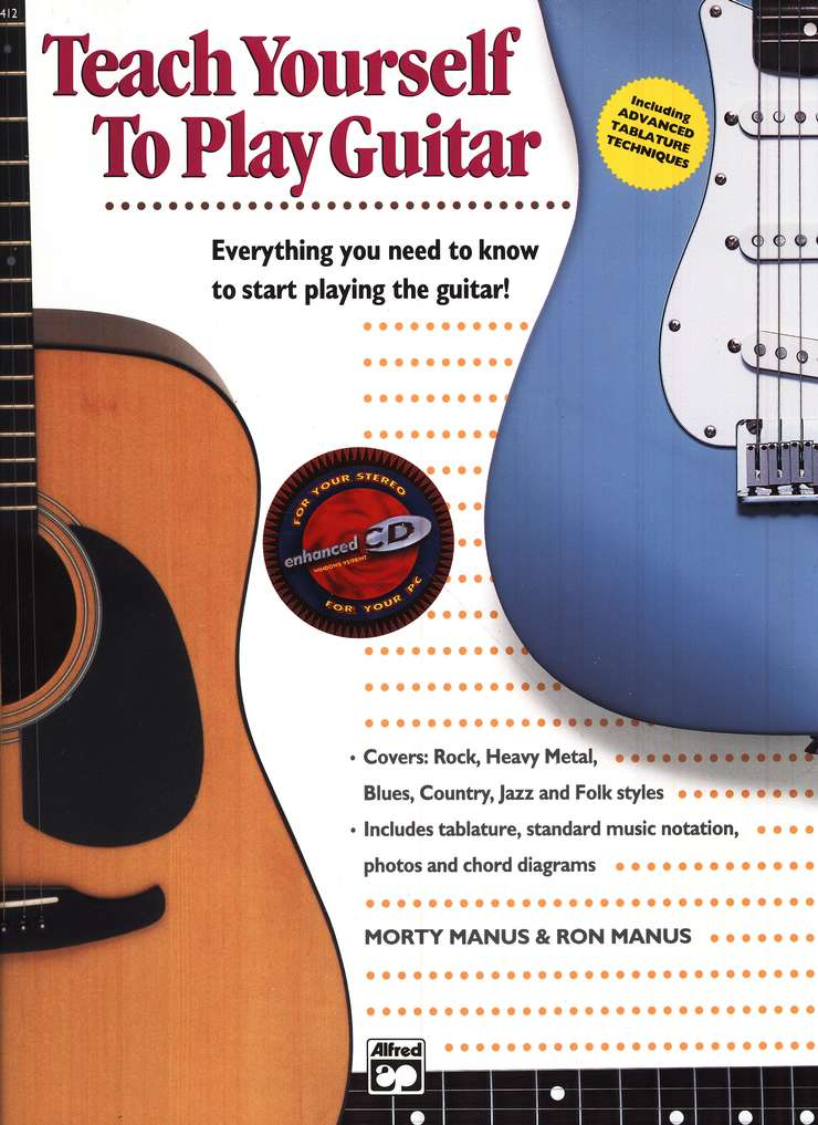Teach Yourself To Play Guitar Book Compact Disc Morty Manus Ron