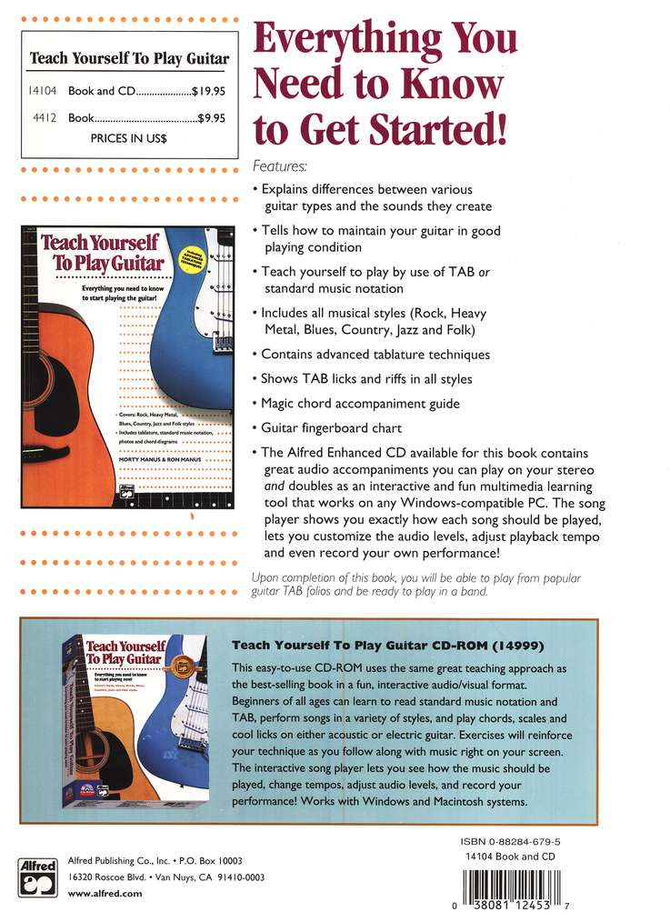 Teach Yourself to Play Guitar, Book & Compact Disc