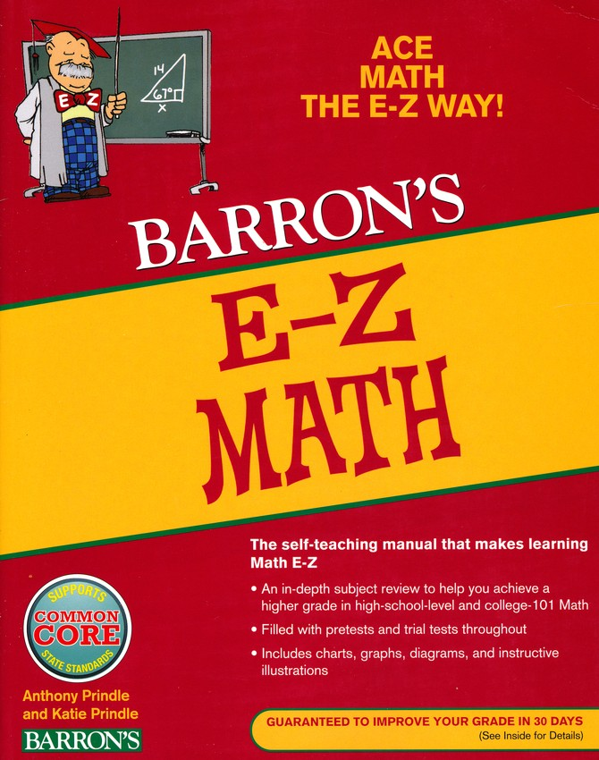 Barron\'s E-Z Math, 5th Edition: Anthony Prindle, Katie Prindle ...