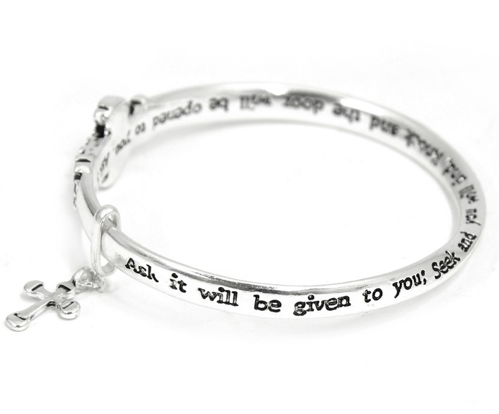 Ask, Seek, Knock Mobius Bracelet