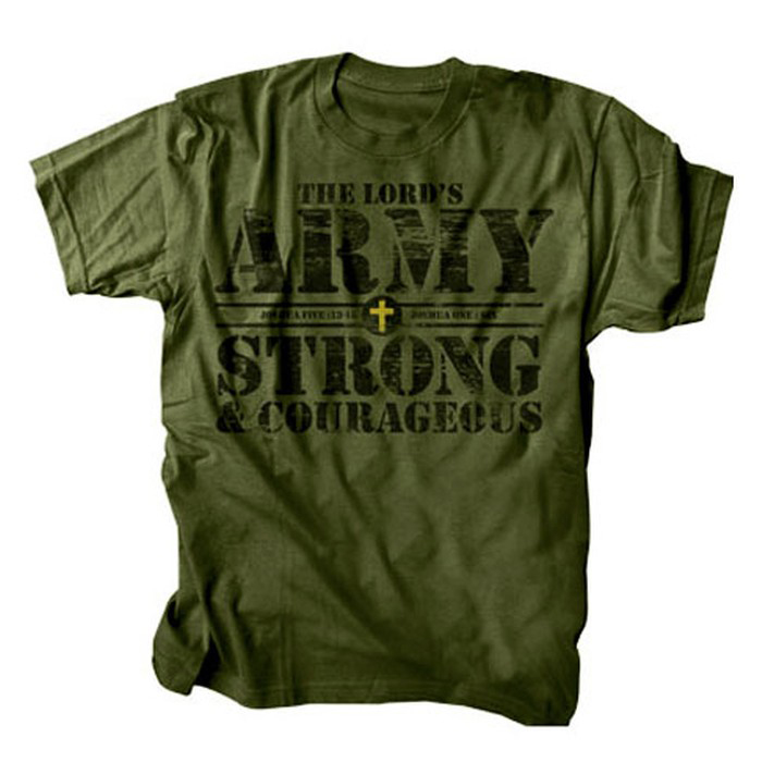 The Lord's Army Shirt, Green, Large