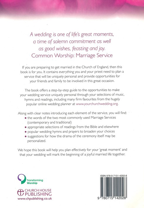 Church Of England Marriage Services With Selected Hymns Readings And Prayers Peter Moger 9780715142028 Book