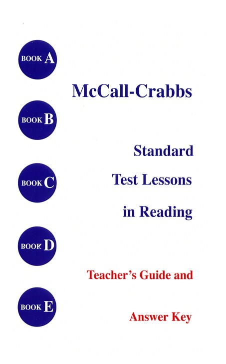McCall-Crabbs Answer Key