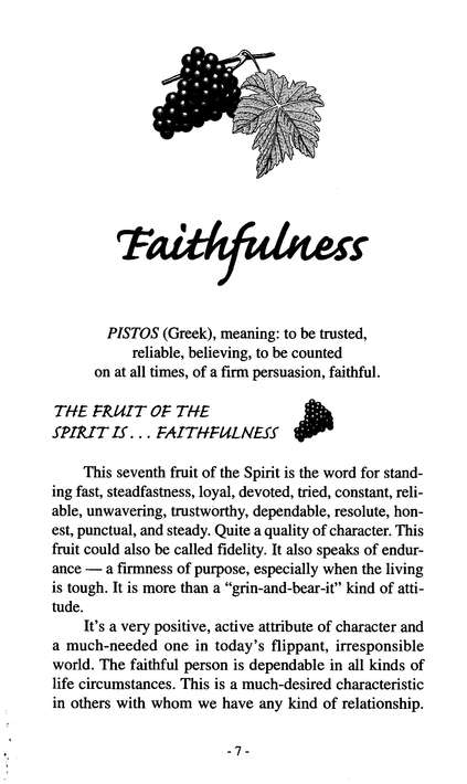 Faithfulness: Nine Fruits of the Spirit Series