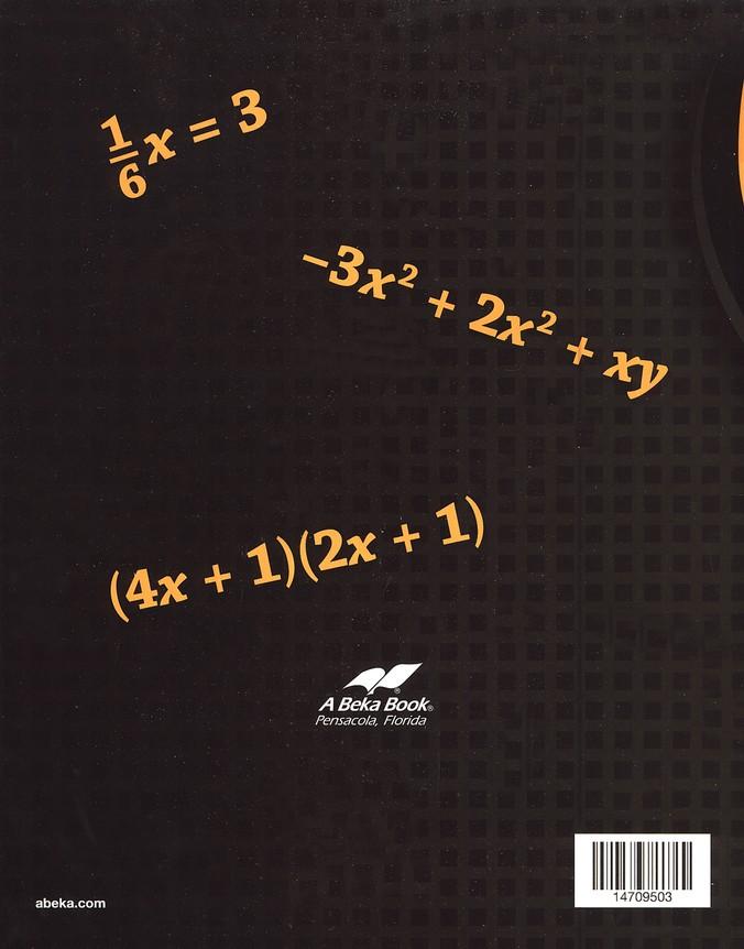 Abeka Pre-Algebra, Third Edition