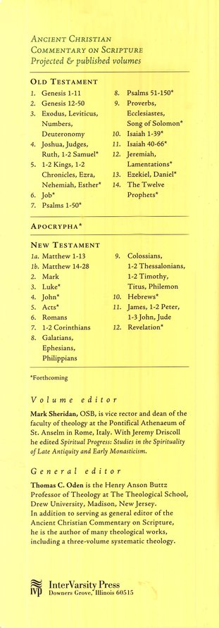 Genesis 12-50: Ancient Christian Commentary on Scripture [ACCS]