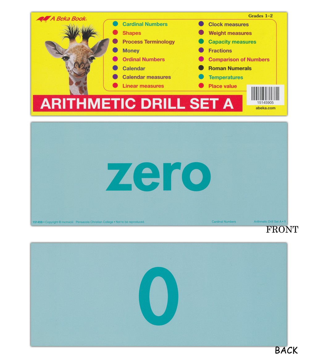Abeka Arithmetic Drill Set A Flashcards - Christianbook.com