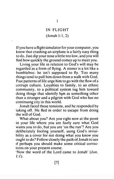Jonah: A Study in Compassion