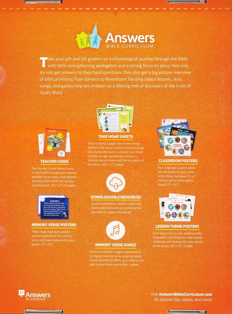 Answers Bible Curriculum Grades 4-5 Unit 2 Teacher Kit (2nd Edition)