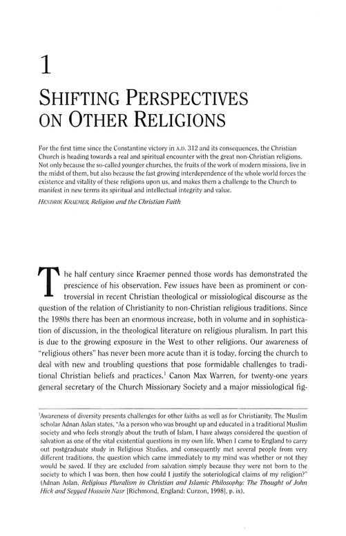 Encountering Religious Pluralism: The Challenge to Christian Faith & Mission