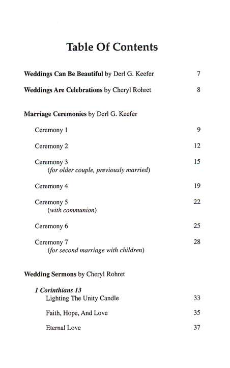 Wedding Sermons And Marriage Ceremonies