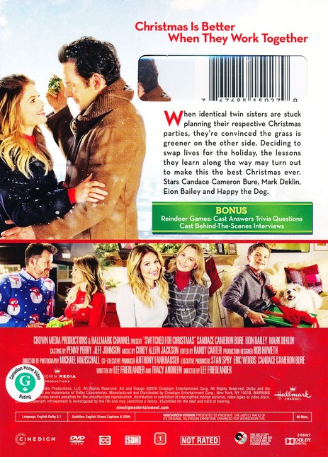 Switched For Christmas Cast.Switched For Christmas Dvd