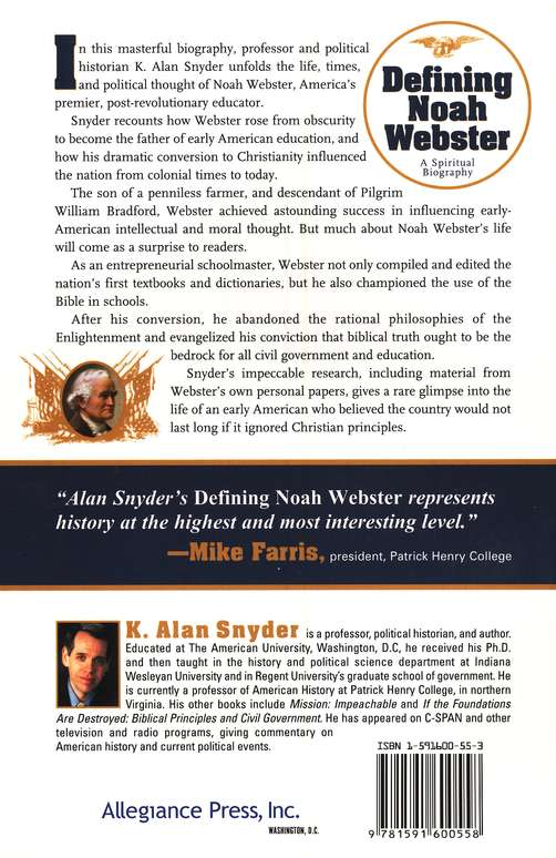 Defining Noah Webster: A Spiritual Biography