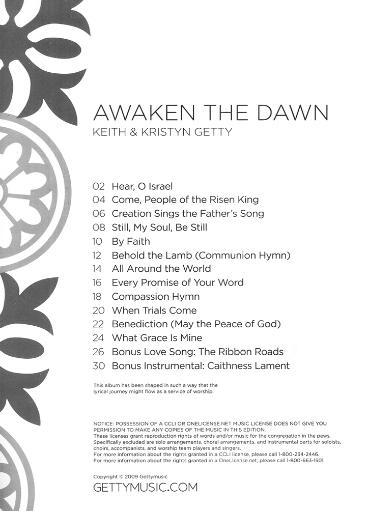 Awaken the Dawn Songbook