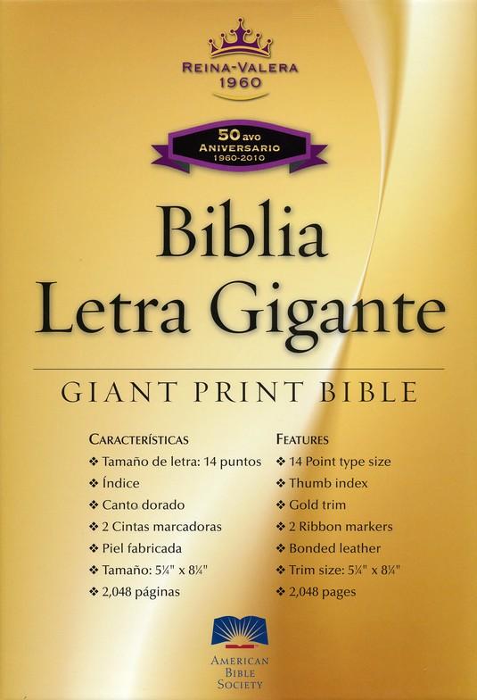 Biblia Letra Gigante RVR 1960, Piel Fabricada Negra, Ind. (RVR ...
