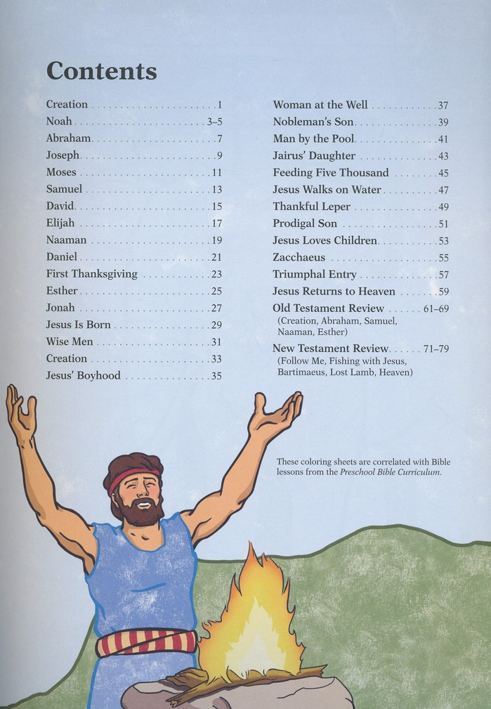 Preschool Bible Coloring Sheets 3 Year Olds Unbound Edition