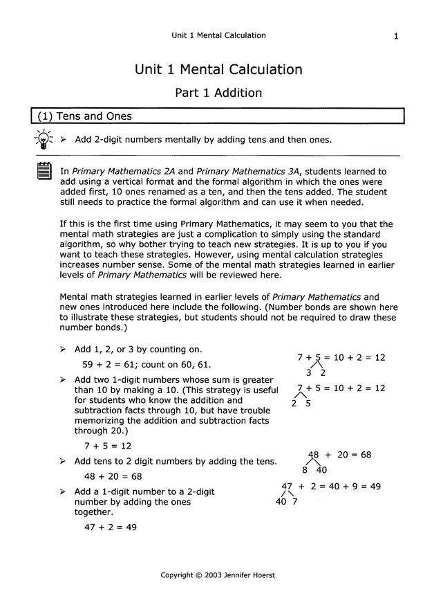 Singapore Math Primary Math Home Instructor's Guide 3B