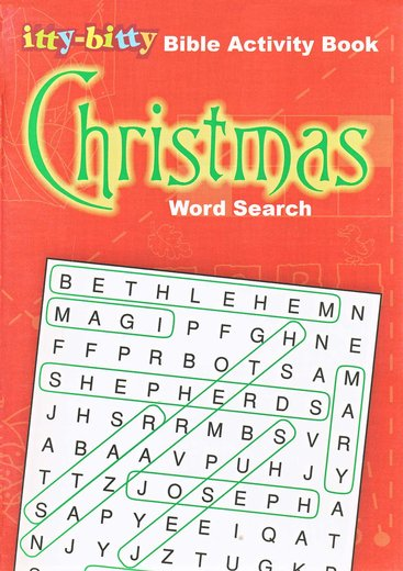 Christmas Word Search: Itty-Bitty Bible Activity Book--Ages 7 and up