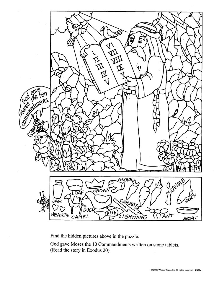 photograph about Bible Story Hidden Pictures Printable identify Concealed Pic OT, Coloring Bk (6-10)