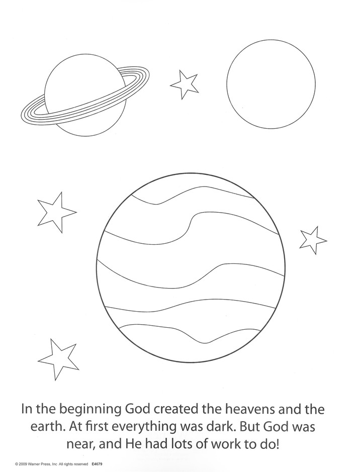 How God Made the World, Coloring / Activity Book (2-5)