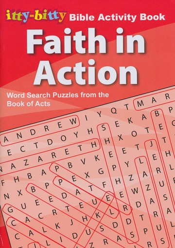 Faith In Action Word Search, itty-bitty Bible Activity Book