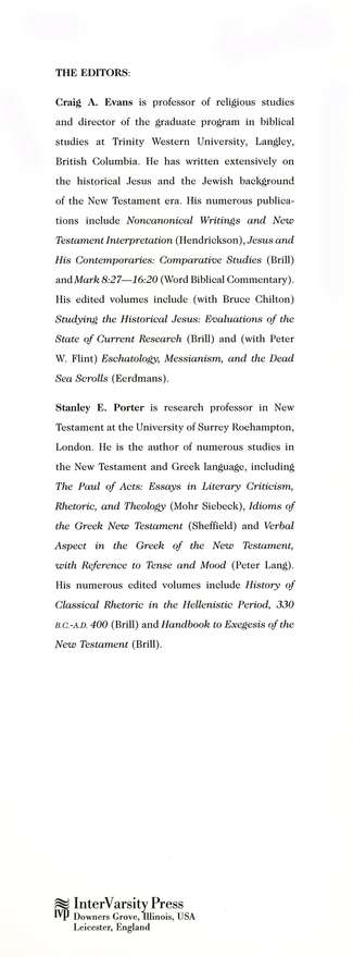 Dictionary of New Testament Background: A Compendium of Contemporary Biblical Scholarship