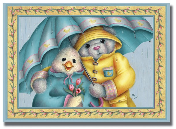 Umbrella and Duck Thinking of You Cards, Box of 12