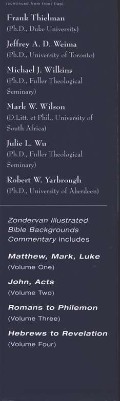 Zondervan Illustrated Bible Backgrounds Commentary: Romans to Philemon