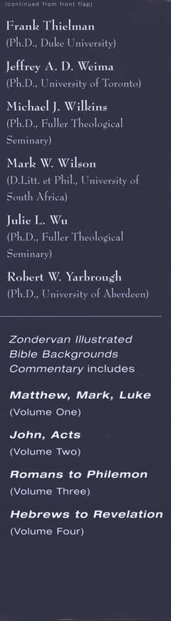 Zondervan Illustrated Bible Backgrounds Commentary: Hebrews to Revelation