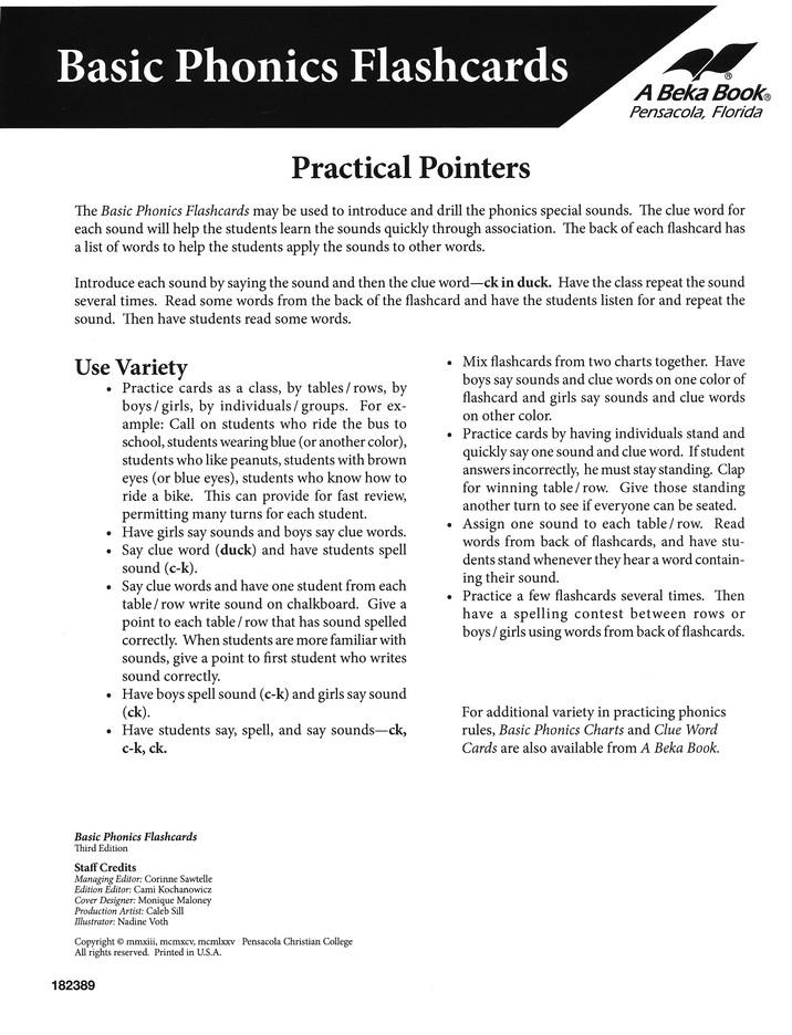 Phonics Rules List