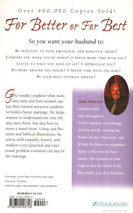 For Better of for Best: Understanding Your Husband