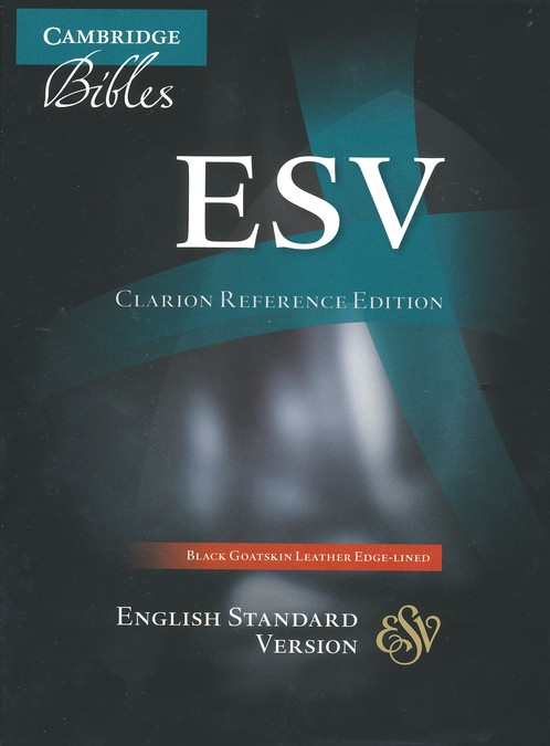 ESV Clarion Reference Bible, Goatskin leather, black