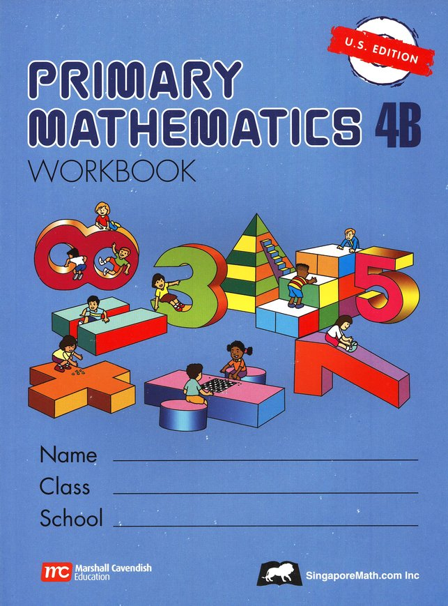 Singapore Math: Primary Math Workbook 4B US Edition: 9789810185091 ...
