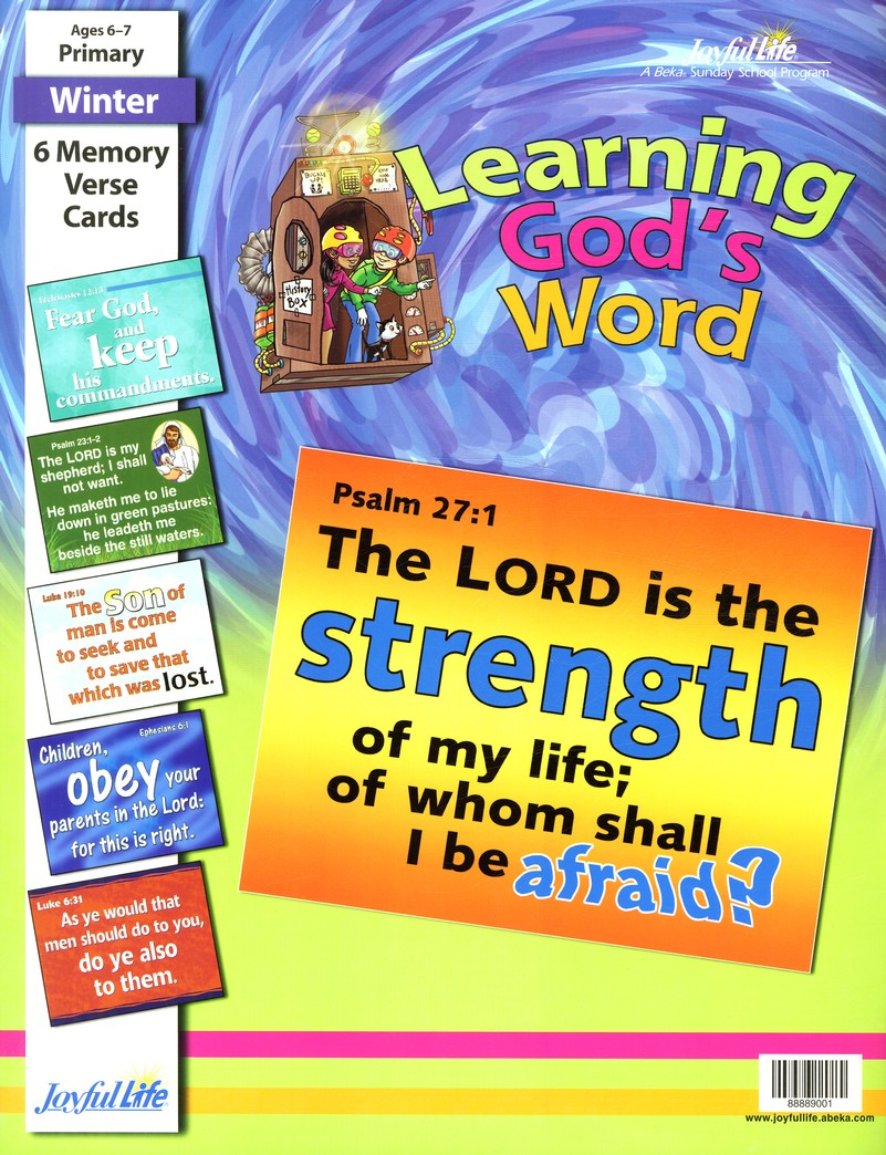 Learning God's Word Primary (Grades 1-2) Memory Verse Visuals