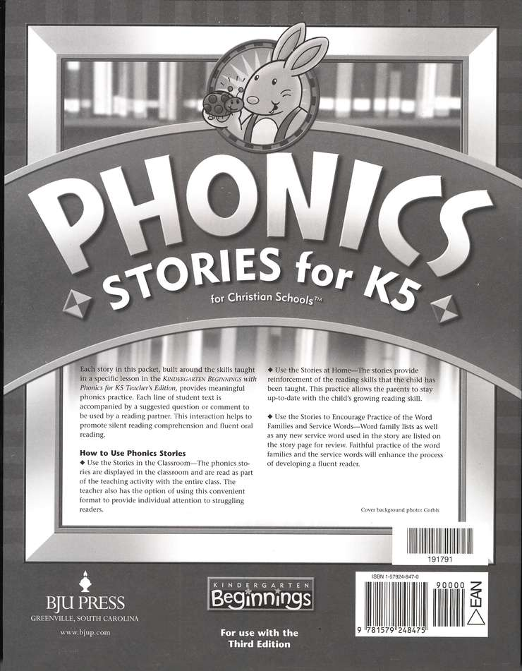 BJU K5 Beginnings, Phonics Stories (Third Edition)