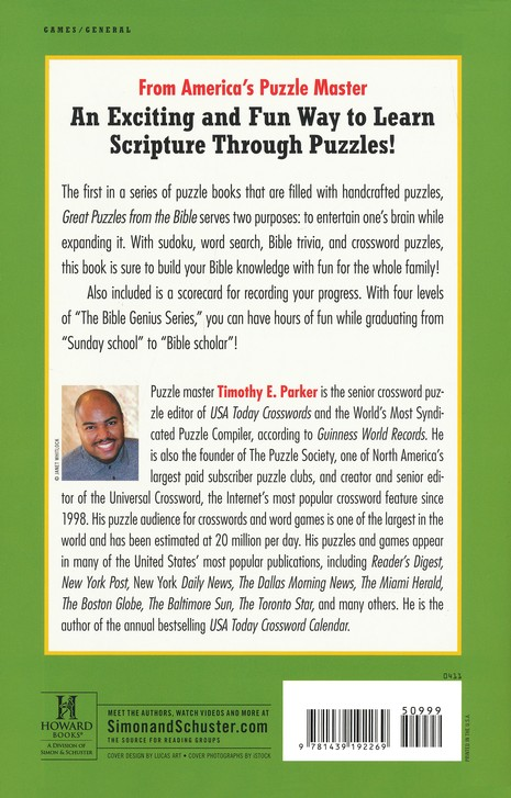 Great Puzzles from the Bible: Including Crosswords,   Word Search, Trivia and More