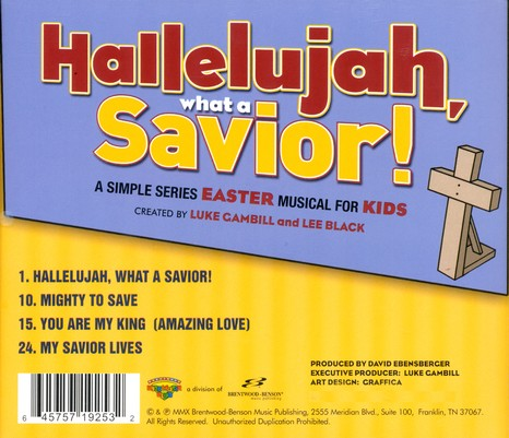Hallelujah, What a Savior! Split-Track, Acc CD