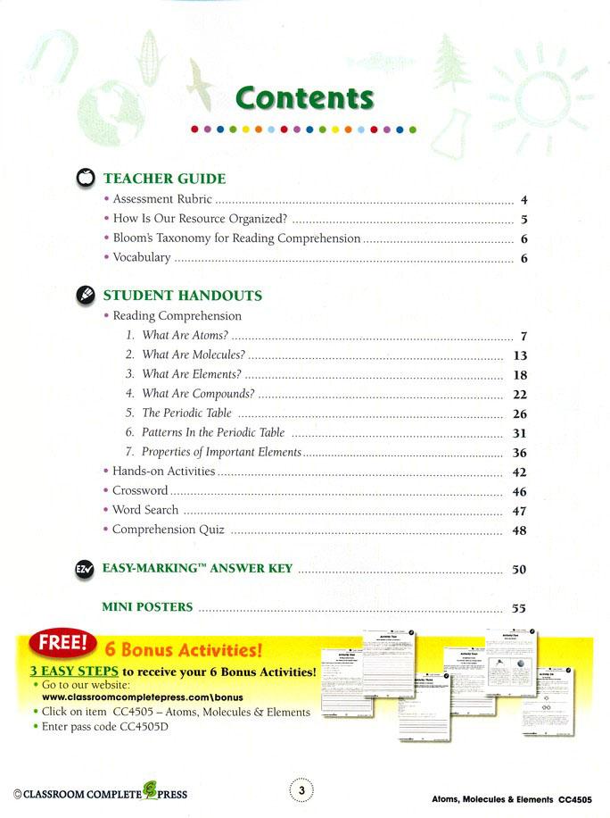 5-8 Matter /& Energy Properties of Matter Gr - Classroom Complete Press